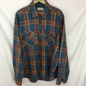 Vintage Sears Roebuck Flannel Wool Plaid XL